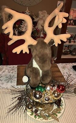 Canadian Mist Reindeer Stuffed Plush Promo Whiskey Posable Antlers Large