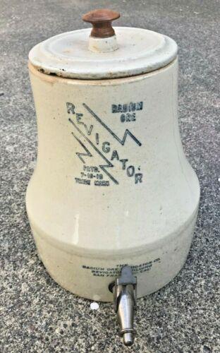 Rare Antique Radioactive Radium Ore Revigator Stoneware Water Dispenser HTF