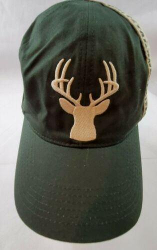 Whitetails Unlimited-Green/White One Size Strap Back
