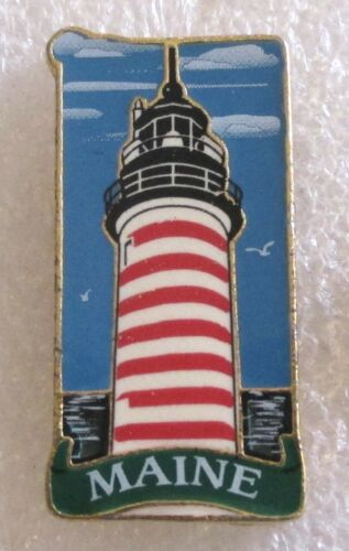 State of Maine Tourist Travel Souvenir Collector Pin - Lighthouse