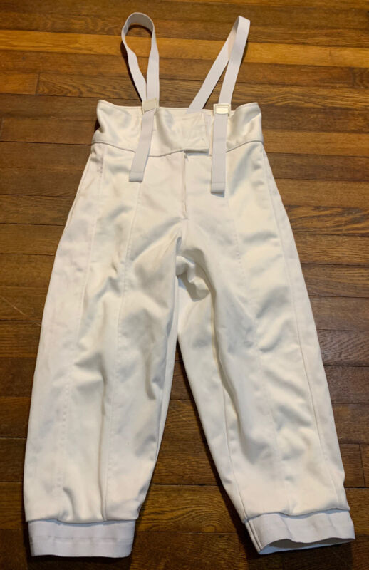 Absolute Fencing Knickers Pants Comfort 350N Level 1 Men's Size 28 White