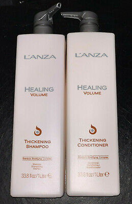 Lanza Healing Volume Thickening Shampoo & Conditioner Liter Duo *BEST