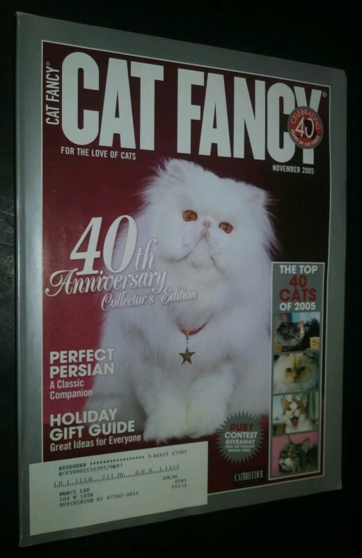 Cat Fancy Magazine 40th Anniversary Collector