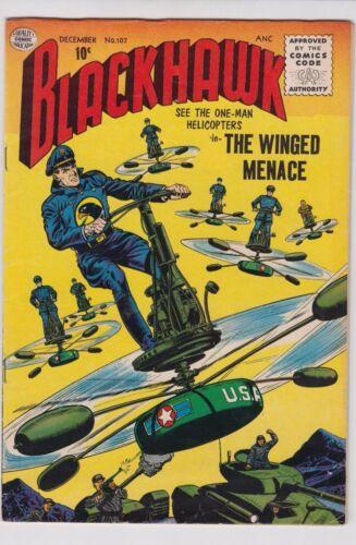 BLACKHAWK #107 1956 QUALITY COMICS VF- CONDITION