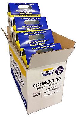 1 Case of Smooth-On OOMOO 30 Silicone! 1 case of 4 kits! 1 Gallon Total Silicone