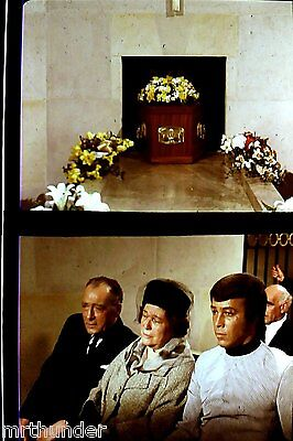 Gerry Anderson's UFO 16mm Colour Film Half Frames - Peter Carlin At Funeral x 2