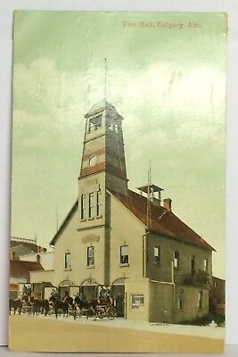 PostCard Fire Hall Calgary Alta. Printed Great Britain Posted 5-20-1911 Vintage