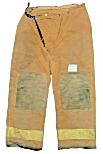 40x30 Globe Brown Firefighter Turnout Pants with Yellow Reflective Tape P1174