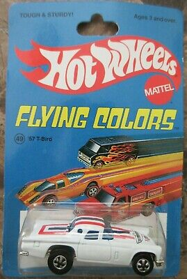 Hot Wheels Flying Colors '57 White T-Bird 30th Anniversary
