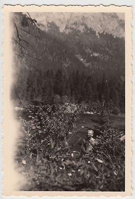 (F20890) Orig. Foto Wanderung am Hintersee 1956
