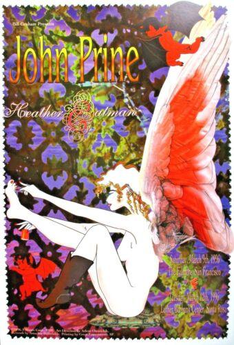 JOHN PRINE FILLMORE POSTER Heather Eatman F209 Original Bill Graham Bullwinkle