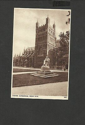 Vintage Sepia Postcard Exeter Cathedral  North West Devon  unposted