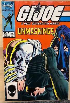 G.I. JOE #55 (1987) Marvel Comics VG+ 2nd printing