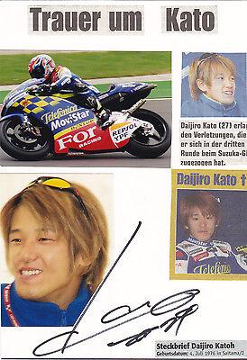 Daijiro Katoh+Motorrad-Weltmeister+Autogramm+ † 20. April 2003