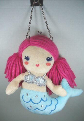 """Gymboree Mermaid Plush Coin Purse 8"""" Pink Hair"""
