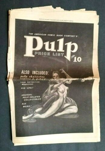 """""""AMERICAN COMIC BOOK CO. PULP MAGAZINE CATALOG 1979 ONE SECTION 20 PAGES"""