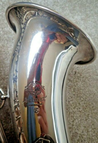 1971 SELMER SILVER PLATE MARK VI TENOR SAX w/high F# KEY + SKB CASE