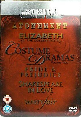 GREATEST EVER COSTUME DRAMAS VOL.2 (5-DISC DVD SET, 2008) **STEELBOOK**