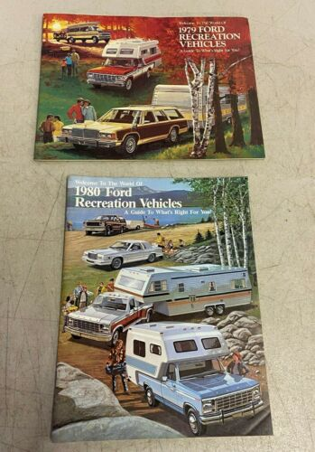 Vtg Ford Sales Brochure Literature 1979 1980 Recreation Vehicles Truck Bronco