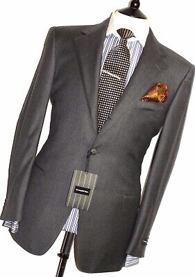 BNWT LUXURY MENS ERMENEGILDO ZEGNA CLASSIC CHARCOAL GREY SUIT42R W36