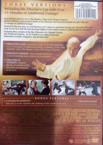 Fearless DVD, 2008, 2-Disc Set, Directors Cut  - $6.00