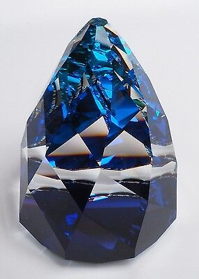 SWAROVSKI CONE/RIO PAPERWEIGHT BERMUDA BLUE 7452 060 000 WITH BOX