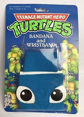 Tmnt Bandana (TMNT Teenage Mutant Ninja/Hero Turtles Vintage Bandana & Wristband Rare MOC 1990)