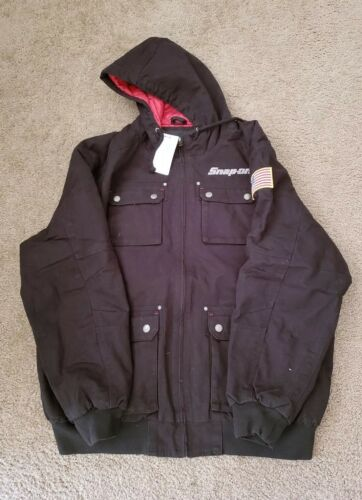 NEW Snap On ToolS Mens Insulated Black Winter Coat Zip Up Ja