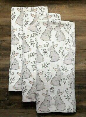 3 Deborah Connolly Designs ttlola Kitchen Hand Dish Towels Bunnies Bunny NEW