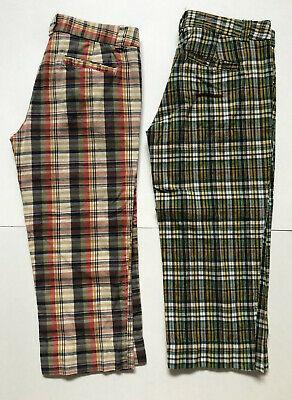 J Crew Ladies Plaid Madras Capri Pants Size 0 - TWO PAIR