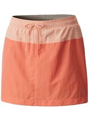 NEW NWT Columbia Womens Sandy River Skort Active Hiking Water Skirt peach SMALL
