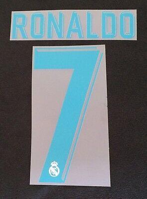 Authentic Real Madrid Player Size Flock RONALDO für adidas Home Trikot 2017-2018