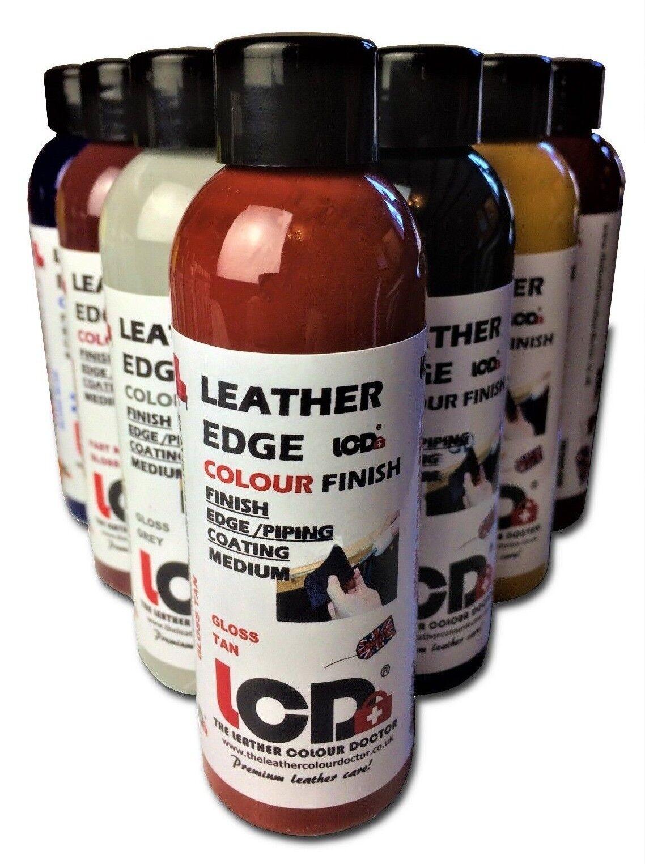 leather edge finish paint, leather dye craft artist colourant, edge coat finish.