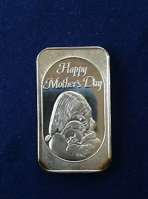 1986 Tri State Refining Happy Mothers Day Cameo Classic Tsr 11 Silver Bar P0947