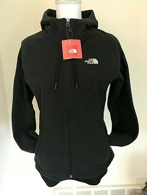THE NORTH FACE Women's 100 Tundra Zip Hoodie Jacket TNF Black Sz S M L XL