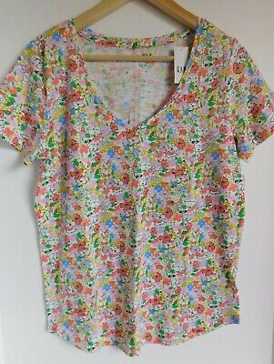 NWT GAP Women's Easy V-Neck T-Shirt Multi Color Floral XS S M L Free Ship New