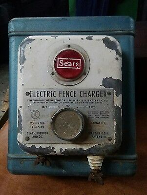 Vintage Sears Roebuck Electric Fence Charger Model No. 436.77670