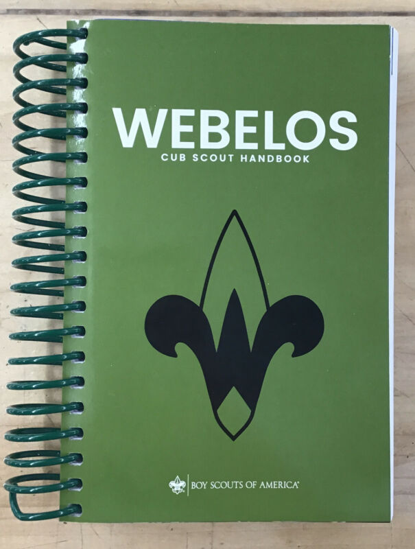 Webelos Cub Scout Handbook from the Boy Scouts of America 2018 Printing 34754