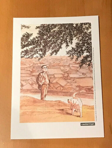 TANIGUCHI JIRO THE WALKING MAN RARE FRENCH PRINT SUPERB & RARE