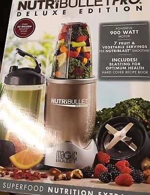 NutriBullet Pro Deluxe Edition 900 Watt 13 Piece Blender, NB9-1301 NEW
