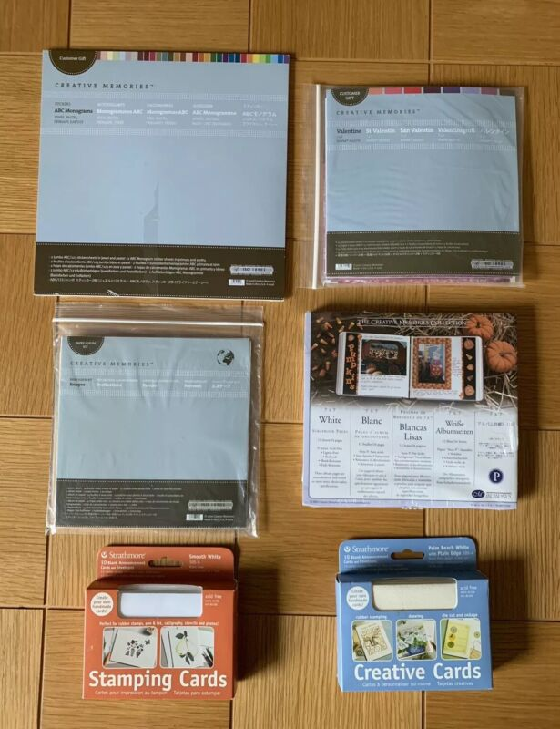 NEW Lot Of 6 Asst. Creative  Memories Page Protectors, Escapes, Valentine & More