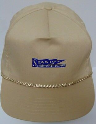 Vtg 1990s STANION WHOLESALE ELECTRIC COMPANY Advertising SNAPBACK HAT ROPE CAP