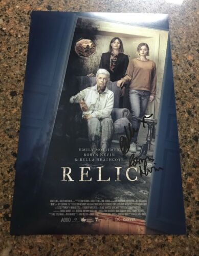 * RELIC * signed 12x18 poster * EMILY MORTIMER, BELLA HEATHCOTE & NEVIN * 1