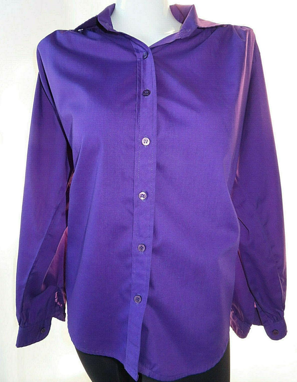 Cat Cay Women's Shirt Button Down Purple Vintage Blouse Size 12.