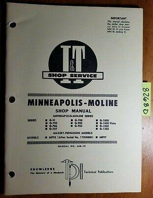 It Minneapolis-moline Gvi G705 G706 G707 G708 G900 G950 G1000 - G1350 Manual 72
