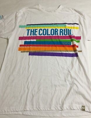 The Color Run Happiest 5K Running Workout Bright T Shirt Adult XL (Color Run Shirts)