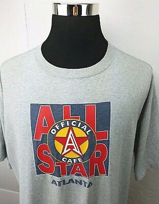 All Star Cafe Atlanta Official Souvenir Made In USA Gray T-Shirt Men's Size: XXL