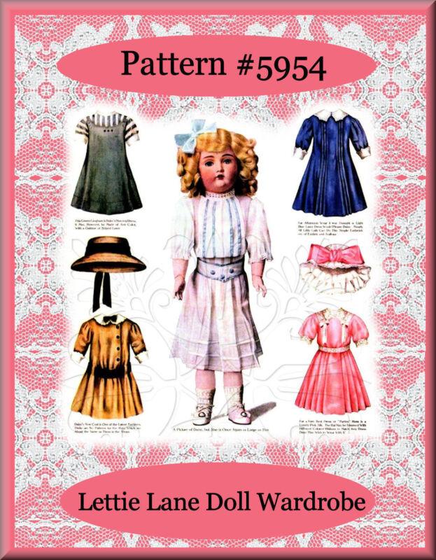 "#5954 Lettie Lane - Daisy Doll 6 Patterns LHJ-Set 18"""