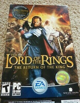 LOTR Lord of the Rings Return of the King PC EA Game 2003 3 Disc CD-ROM (Lotr Return Of The King Pc Game)