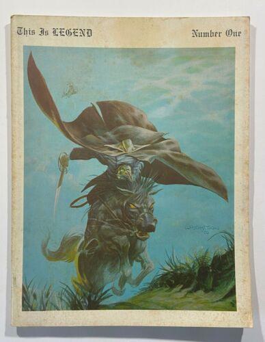 This Is Legend Fanzine #1 1970 Berni Wrightson Cover Juanillo Frank Frazetta